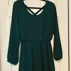 Dresses & Skirts - Sale today! Cute hunter green fall dress
